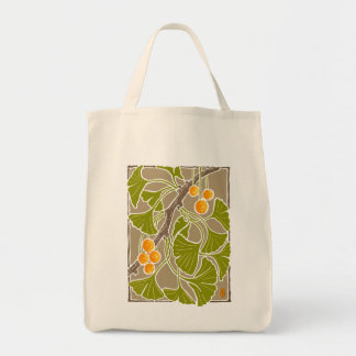 Ginkgo Dance Block Print Tote Bag