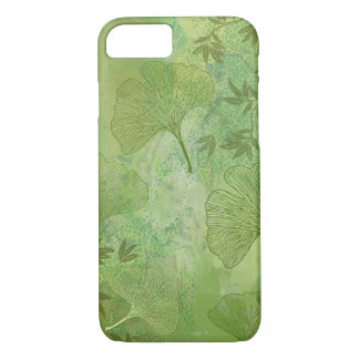 Ginkgo Leaves Foliage Overall Pattern Green Colors iPhone 7 Case
