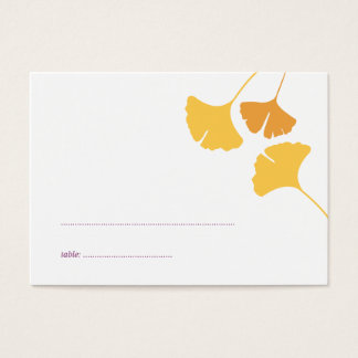 Ginkgo leaves wedding escort seating place card