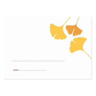 Ginkgo leaves wedding escort seating place card pack of chubby business cards