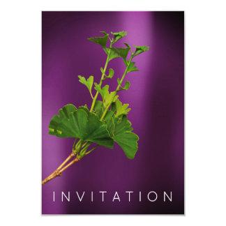Ginko Billoba Chef Dinner Greenery Organic Plum Card