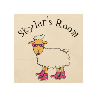 Ginny the sheep kid's room sign