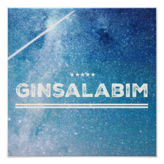 Ginsalabim kind print poster for Gin of lover