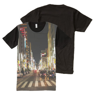 Ginza Crossing All-Over Print T-Shirt