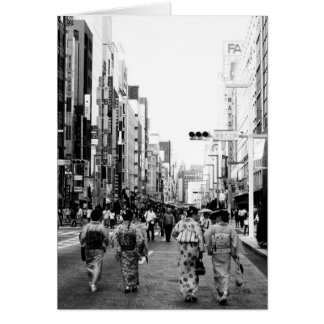 Ginza Tokyo Stylised Greeting Card