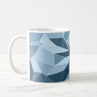 Giometric diamond shaded blue pattern coffee mug