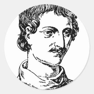 Giordano Bruno Classic Round Sticker