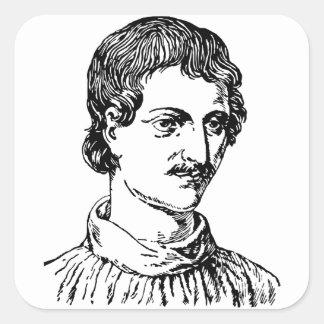 Giordano Bruno Square Sticker