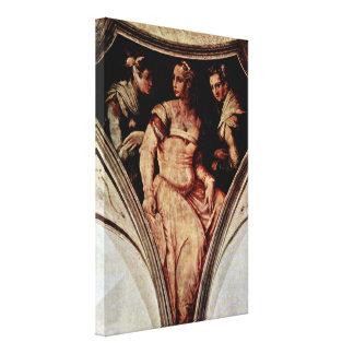 Giorgio Vasari - Nicolosa Bacci and the woman Canvas Prints