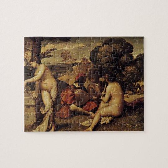 Giorgione- Pastoral Concert (Fête champêtre) Jigsaw Puzzle