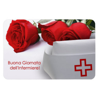 Giornata dell'Infermiere. Gift Magnet in Italian Vinyl Magnets