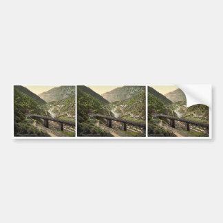 Giornico St Gotthard Railway Switzerland vintag Bumper Sticker