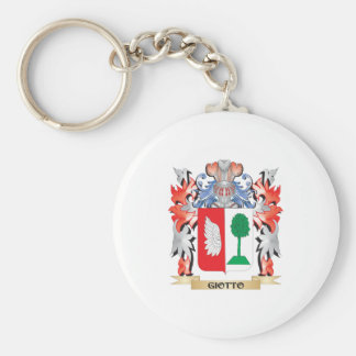 Giotto Coat of Arms - Family Crest Basic Round Button Key Ring