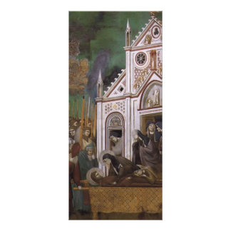 Giotto: St. Francis Mourned by St. Clare Personalised Rack Card