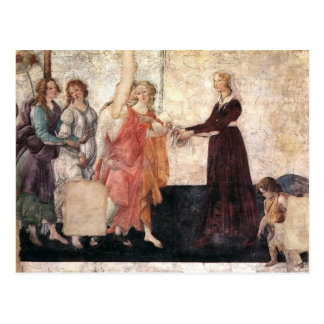 Giovanna Albizi With Venus And The Graces Postcard