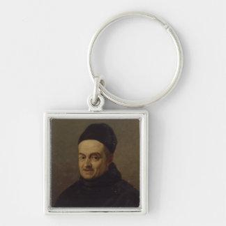 Giovanni Battista Martini Silver-Colored Square Key Ring