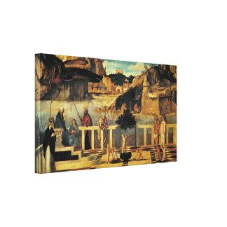 Giovanni Bellini - allegory of purgatory Canvas Print