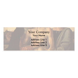Giovanni Bellini- Dead Christ Supported by Madonna Business Card Template