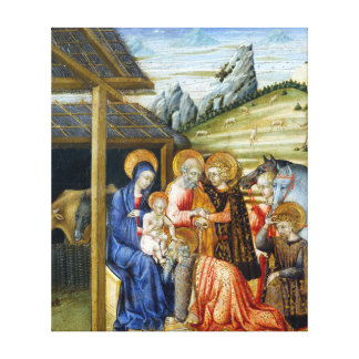 Giovanni di Paolo The Adoration of the Magi Canvas Print