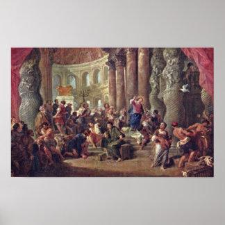 Giovanni Paolo Pannini - Jesus sells merchants Poster