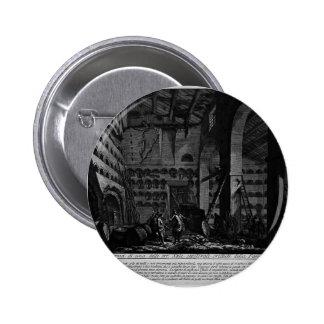 Giovanni Piranesi- Interior view of burial rooms Button