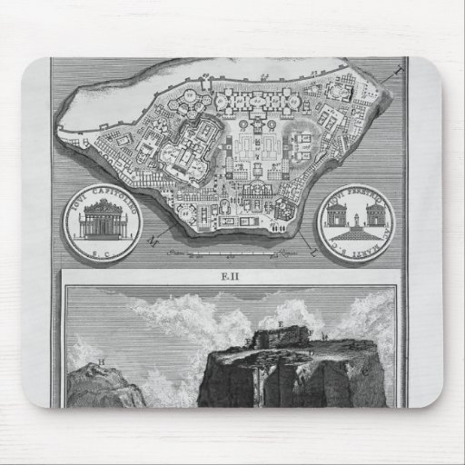 Giovanni Piranesi-Plan of the ancient Roman Forum Mouse Pads