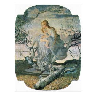 Giovanni Segantini - Life angel Postcard