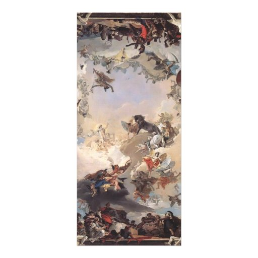 Giovanni Tiepolo-Allegory of Planets,Continents Custom Rack Cards