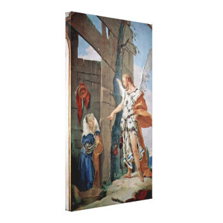 Giovanni Tiepolo - Appearance of the angel Canvas Print