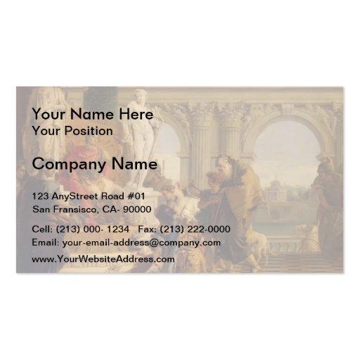 Giovanni Tiepolo-Maecenas Presenting Liberal Arts Business Card Template