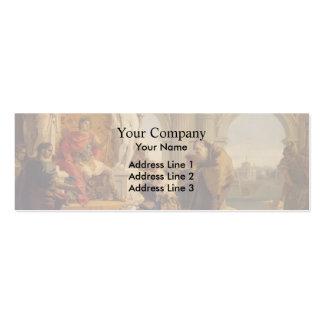 Giovanni Tiepolo-Maecenas Presenting Liberal Arts Business Cards