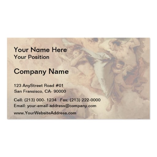 Giovanni Tiepolo-St.Thecla Liberating City of Este Business Card Template