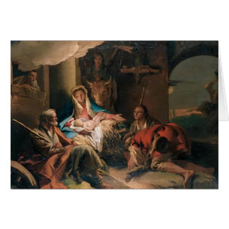 Giovanni Tiepolo- The Adoration of the Shepherds Card