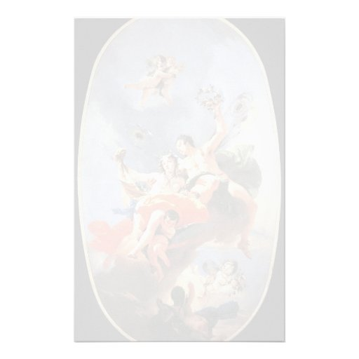 Giovanni Tiepolo- The Triumph of Zephyr and Flora Stationery Design