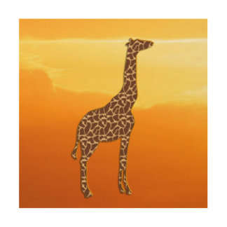 Giraffe 2 wood wall art