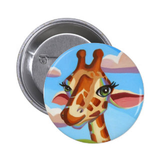 Giraffe 6 Cm Round Badge