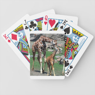 Giraffe Africa Safari Animal Personalize Giraffes Bicycle Playing Cards