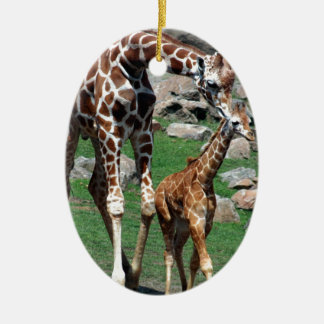 Giraffe Africa Safari Animal Personalize Giraffes Ceramic Ornament