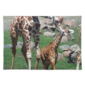 Giraffe Africa Safari Animal Personalize Giraffes Placemat