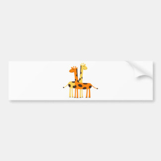 giraffe africa safari wildlife bumper sticker