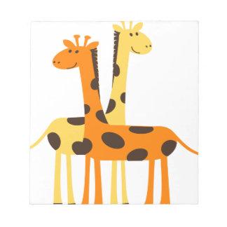 giraffe africa safari wildlife notepad
