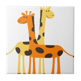giraffe africa safari wildlife tile