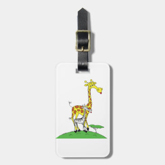 Giraffe And A Zebra Luggage Tags