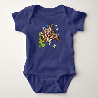 GIRAFFE and BUTTERFLIES Baby Bodysuit