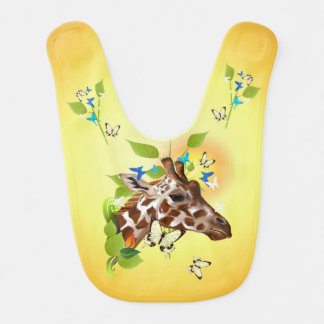 GIRAFFE and BUTTERFLIES Bib