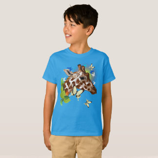 GIRAFFE and BUTTERFLIES-sun T-Shirt