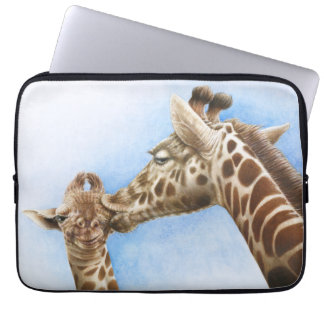 Giraffe and Calf Electronics Bag