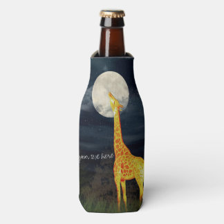 Giraffe and Moon | Custom Bottle Can Cooler