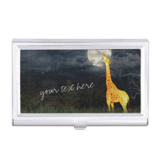 Giraffe and Moon | Custom Business Card Holder