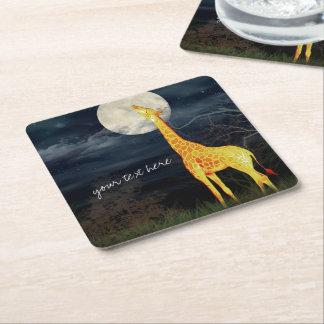 Giraffe and Moon   Custom Drink Coasters